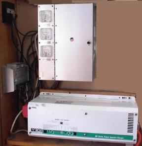 Charge controlers, inverter and load center